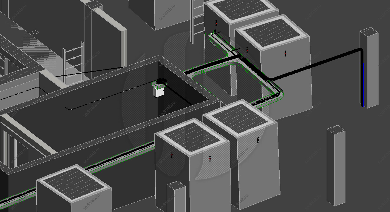 Фрагмент проекта системы мониторинга конструкций (СМК) Ахмат Тауэр
