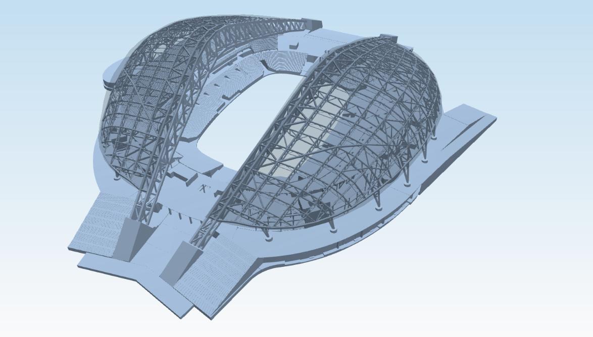 3D BIM model of the stadium