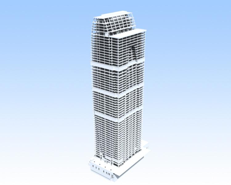 BIM of Imperia tower © SODIS Lab